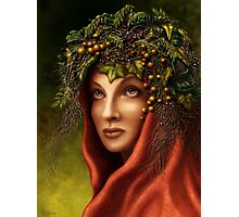 Keeper of the wood - nature goddess Photographic Print