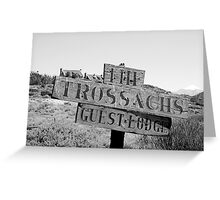 Trossachs Sign - McGregor, S Africa Greeting Card