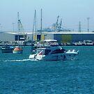 Enjoying a trip on Corio Bay - Geelong. Vic. by EdsMum
