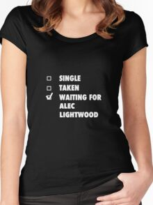 Waiting For Alec Lightwood Women's Fitted Scoop T-Shirt