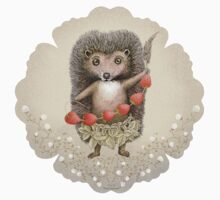 Animal Hedgehog Strawberry Kids Tee
