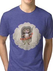 Animal Hedgehog Strawberry Tri-blend T-Shirt