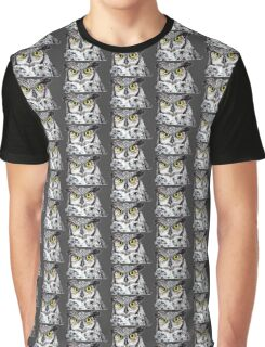 Owl with Yellow Eyes Graphic T-Shirt