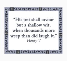 His Jest Shall Savour - Shakespeare Kids Tee