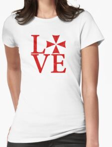 Umbrella Love Womens Fitted T-Shirt