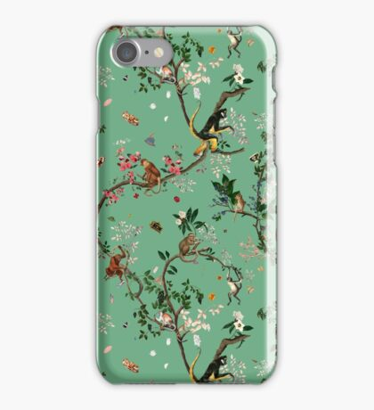 Monkey World Green iPhone Case/Skin