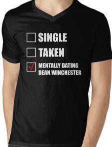 Mentally Dating Dean Whincester Mens V-Neck T-Shirt