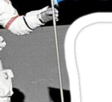 Alpha Delta Pi Man on the Moon Sticker