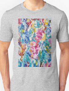 Abstract floral painting Unisex T-Shirt