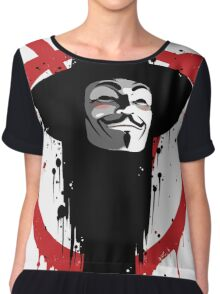 V for Vendetta Ink Chiffon Top