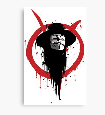 V for Vendetta Ink Canvas Print