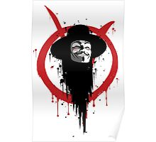 V for Vendetta Ink Poster