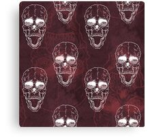 Terrible frightening seamless pattern with skull Canvas Print
