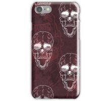 Terrible frightening seamless pattern with skull iPhone Case/Skin