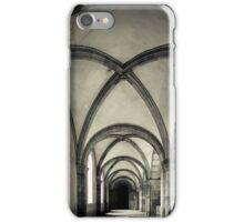 Majestic medieval cathedral interior view, old gothic church iPhone Case/Skin