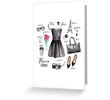 Paris style fashion illustrations Greeting Card