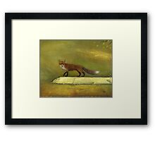 Fox on the Rock Framed Print