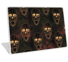 Terrible frightening seamless pattern with skull  Laptop Skin