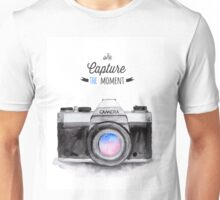 Paris style camera fashion illustrations Unisex T-Shirt