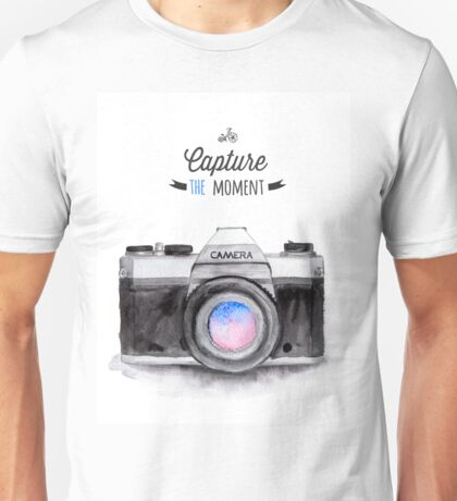 Paris style camera fashion illustrations Unisex T-Shirt