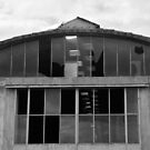 Derelict Industrial Building b&w by jojobob