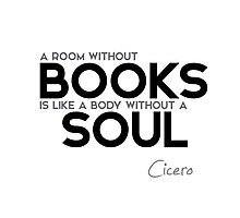 books soul - cicero Photographic Print