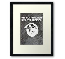 I Rebel (Steal Plate) Framed Print