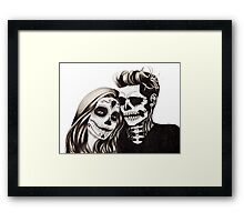 Day of the Dead Lovers Framed Print