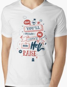 LITTLE HELL Mens V-Neck T-Shirt