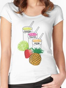 Summer Fruit smoothie Women's Fitted Scoop T-Shirt