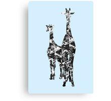 Patchwork Giraffes  Canvas Print