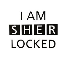 iam sher locked Photographic Print
