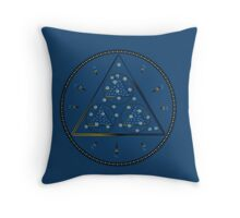 mysterious triangle Throw Pillow
