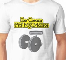 Ice Cream Fits My Macros Unisex T-Shirt