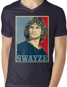 Patrick Swayze Mens V-Neck T-Shirt