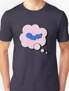 Comics Bubble with Expression Oops in Vintage Style Unisex T-Shirt