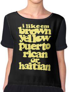 puerto rican or haitian Chiffon Top