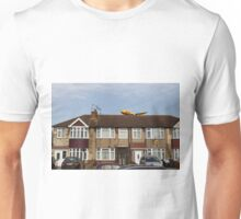 DHL Airbus A300 Emerging From A House Unisex T-Shirt