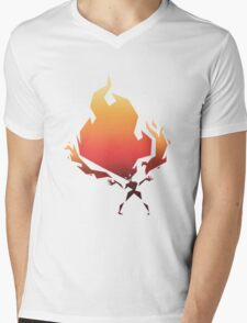 Flame On! - Fire Woman Mens V-Neck T-Shirt