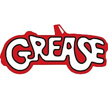 grease logo Photographic Print