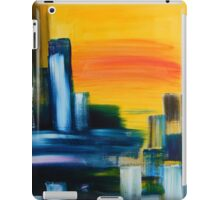 City Sunrise Contemporary Abstract Cityscape iPad Case/Skin