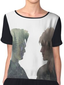 Malec - Shadowhunters - Face to face Chiffon Top