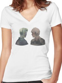 Malec - Shadowhunters - Face to face Women's Fitted V-Neck T-Shirt