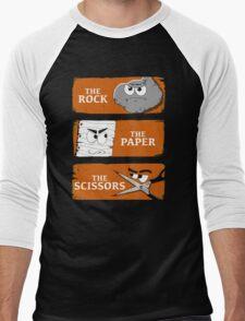 The Rock The Paper The Scissors Men's Baseball ¾ T-Shirt