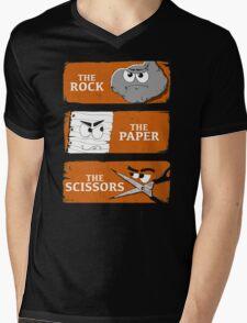 The Rock The Paper The Scissors Mens V-Neck T-Shirt