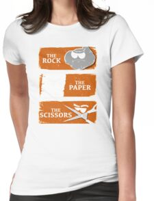 The Rock The Paper The Scissors Womens Fitted T-Shirt