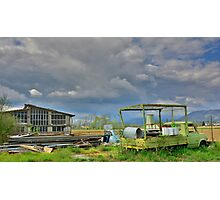 Disused Truck and Factory Photographic Print