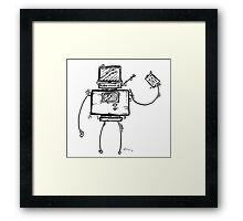 VEE the robot Framed Print