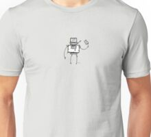 VEE the robot - white BG Unisex T-Shirt