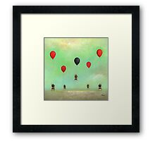 Bees with Balloons Framed Print